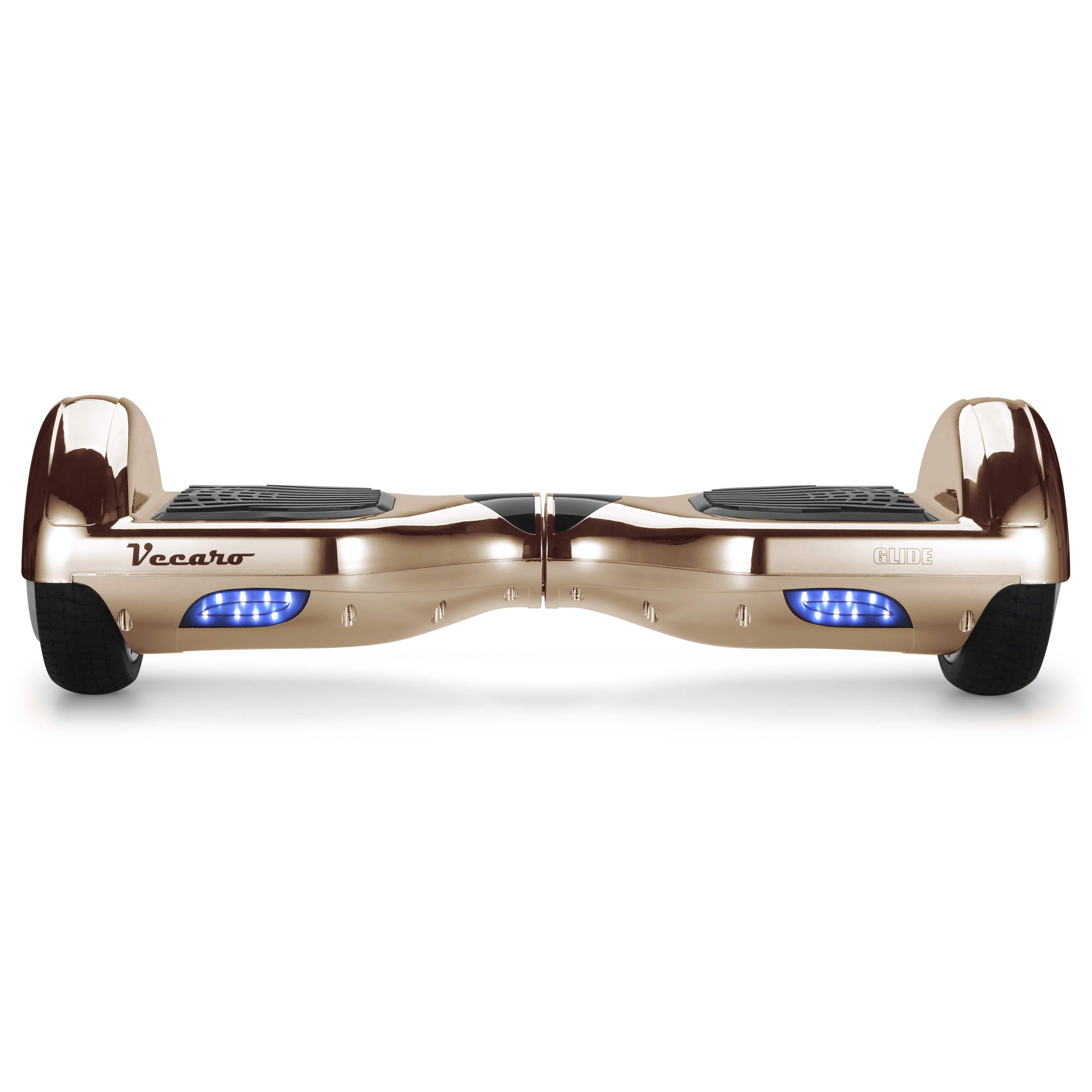Glide (metallic light rose gold) front hoverboard view
