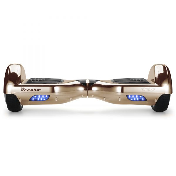 Glide-X (light rose gold) front hoverboard view