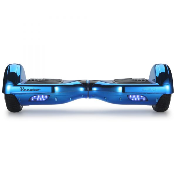 Glide-X (metallic blue) front hoverboard view