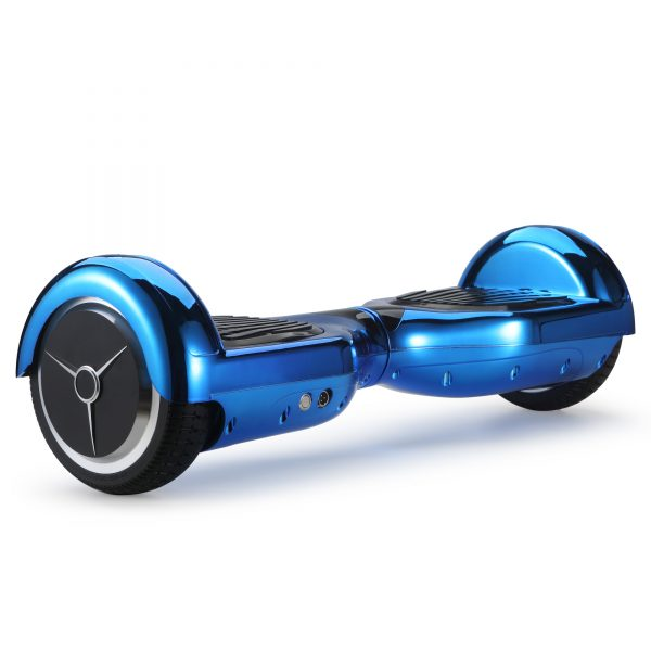 (metallic blue) back angle hoverboard view