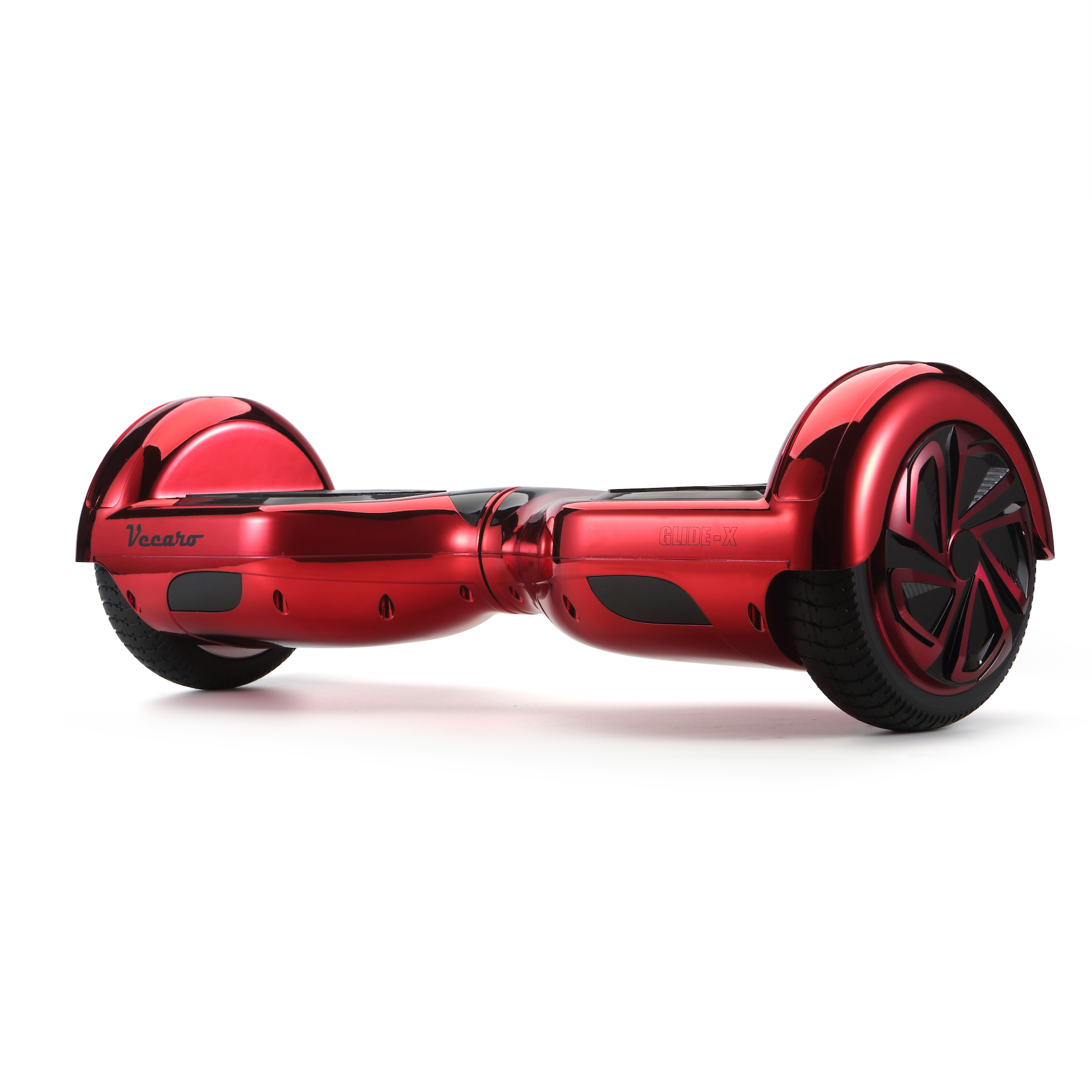 Glide-X (metallic red) front angle hoverboard view