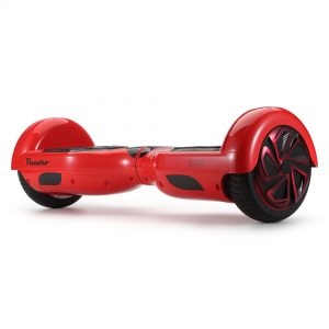 Glide (red) front angle hoverboard view