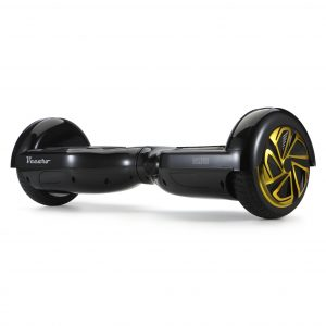 Glide (black) front angle hoverboard view