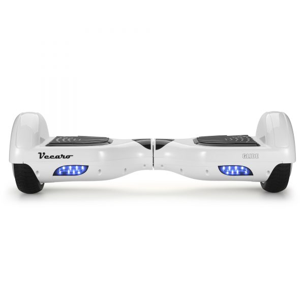 Glide (white) front hoverboard view