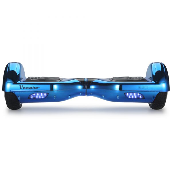 Glide (metallic blue) front hoverboard view